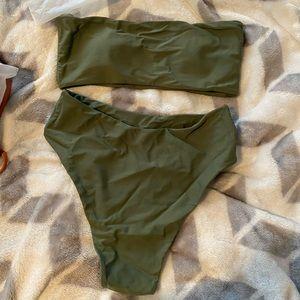 Zaful Green High Waisted Bikini